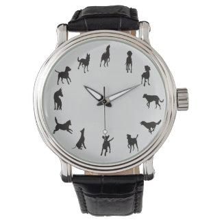 Reloj del perro del en punto del perro