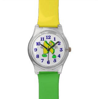 Reloj del personaje de dibujos animados del alfabe