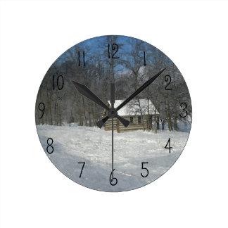 Reloj del personalizable de la cabina del invierno
