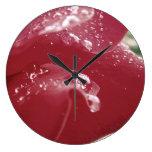 Reloj del pétalo color de rosa