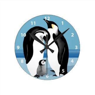 Reloj del pingüino de emperador