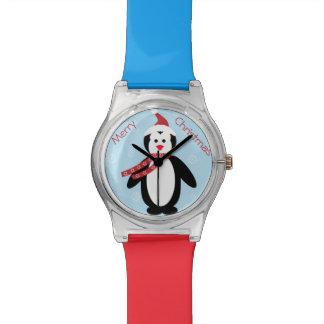Reloj del pingüino del dibujo animado