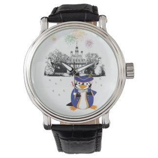 Reloj del pingüino del Doodle del yanqui