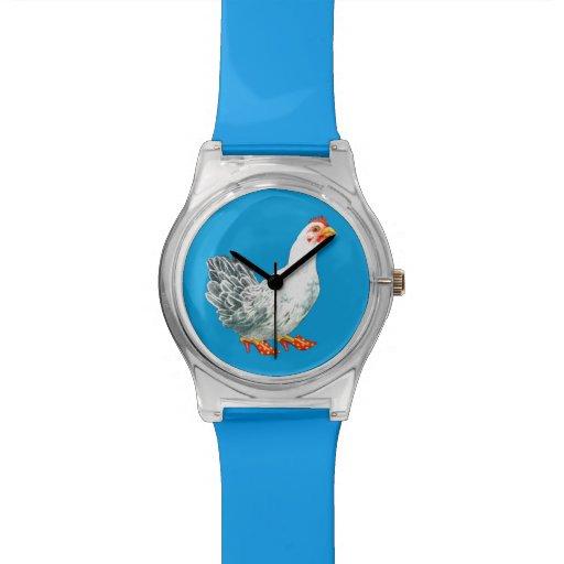 Reloj del pollo (azul)
