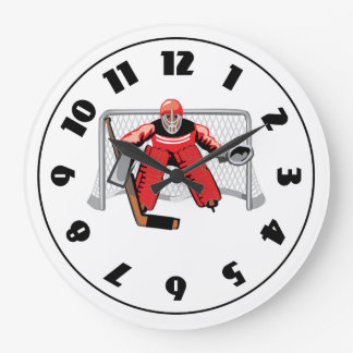 Reloj del portero del hockey sobre hielo
