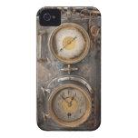 Reloj del punk del vapor del vintage iPhone 4 Case-Mate cobertura