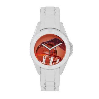 Reloj del punto de la clavada del baloncesto