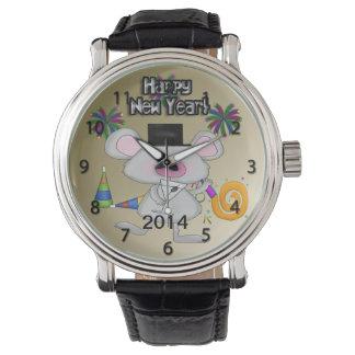 Reloj del ratón del Año Nuevo