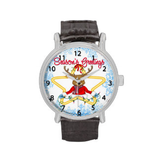 Reloj del reno de los saludos de la estación
