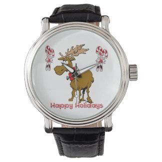 Reloj del reno del día de fiesta
