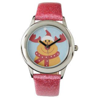 Reloj del reno del navidad