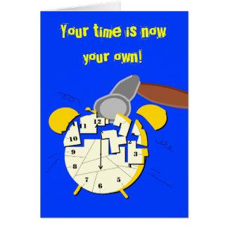 reloj del retiro felicitación