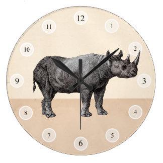 Reloj del rinoceronte del vintage