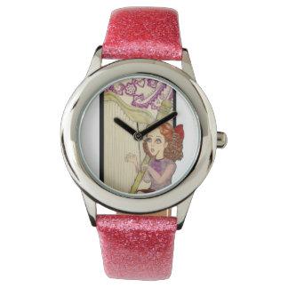 """Reloj del rosa de la chispa de """"Amythest"""""""