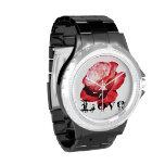 Reloj del rosa del amor