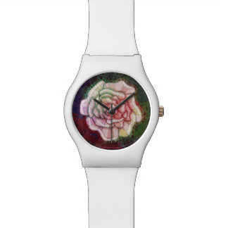 Reloj del rosa del bastón de caramelo