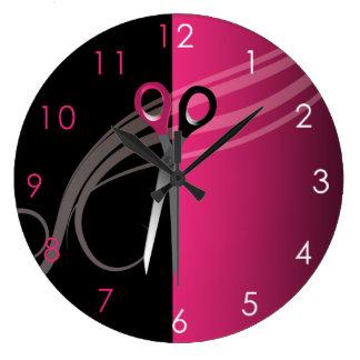 Reloj del salón de pelo