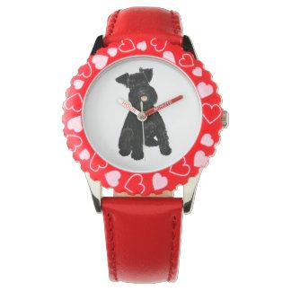 Reloj del Schnauzer del niño de KookieSookie