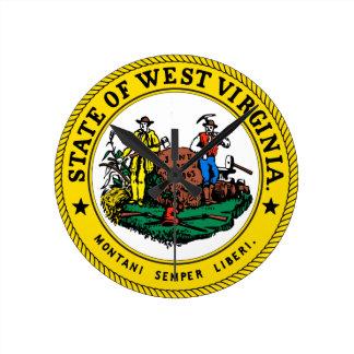 Reloj del sello del estado de Virginia Occidental