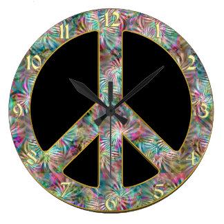 Reloj del signo de la paz del vintage