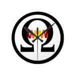 Reloj del símbolo del ohmio