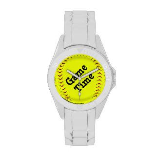 Reloj del softball de Fastpitch