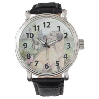 Reloj del soñador del perrito del Wolfhound