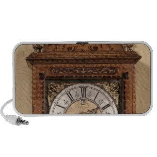 Reloj del soporte, c.1700 altavoces de viaje