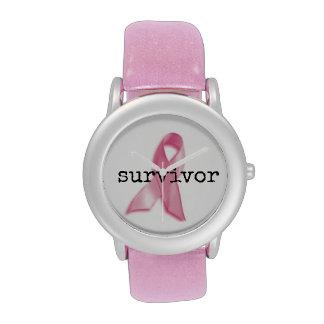 Reloj del superviviente del cáncer de pecho con la