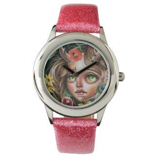 Reloj del surrealismo del estallido de la ninfa