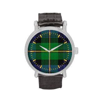 Reloj del tartán del clan de Gordon