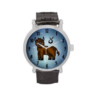 reloj del tauro del zodiaco