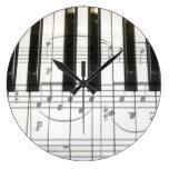 Reloj del teclado de piano