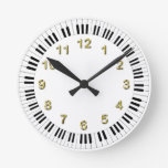 Reloj del teclado de piano con los marcadores de D