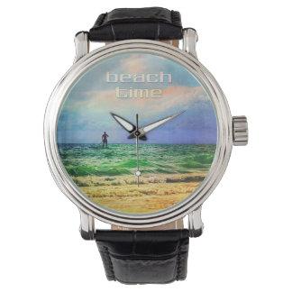 Reloj del tiempo de la playa