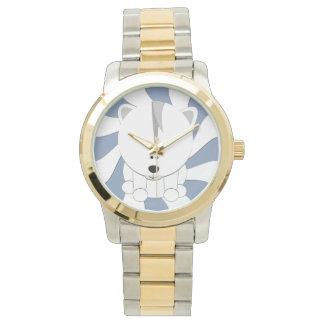 Reloj del tono de Cub dos del oso polar