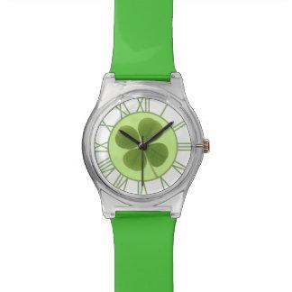 Reloj del trébol de cuatro hojas