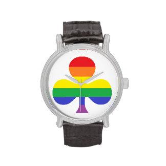 Reloj del trébol del arco iris