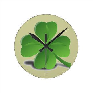 Reloj del trébol del trébol del día de St Patrick