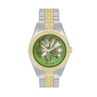 ¡Reloj del trébol ¡Reloj del irlandés ¡Añada el
