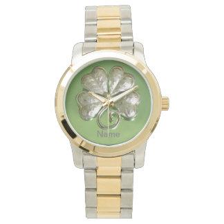 ¡Reloj del trébol! ¡Reloj del irlandés! ¡Añada el Reloj De Mano