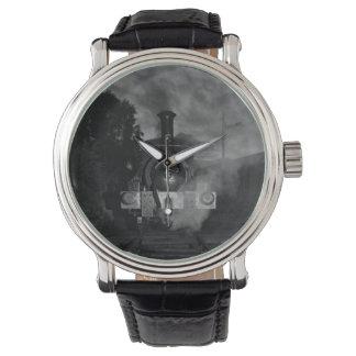 Reloj del tren del vapor