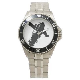 Reloj del truco del acero inoxidable