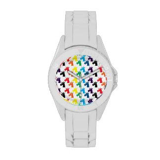 Reloj del unicornio del arco iris