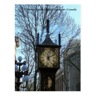 Reloj del vapor de Gastown, Vancouver, Canadá Postal