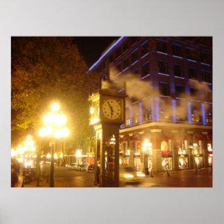 Reloj del vapor, Vancouver Póster
