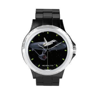 reloj del vehículo espacial por el highsaltire