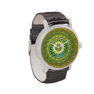 Reloj del verde de la mandala