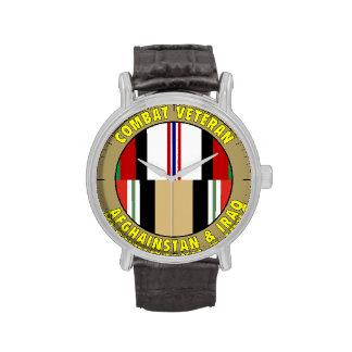 Reloj del veterano de Afganistán y de Iraq