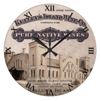 Reloj del vino de la isla de Kelleys